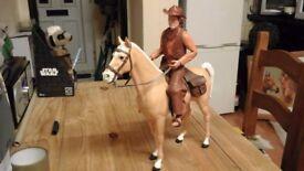 JOHNY WEST & THUNDERBOLT HORSE MARX TOYS 1960s