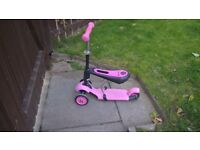 girls pink y volution scooter with seat immaculate