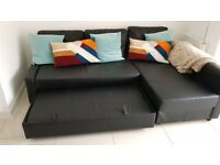 Sofa bed chaise long.