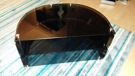 Black gloss and glass tv stand