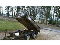 Ifor Williams tipper trailer 8x5 electric tip 2013
