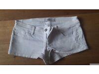 Hollister white short shorts