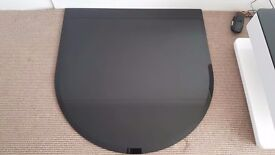 Black Glass semi circular hearth