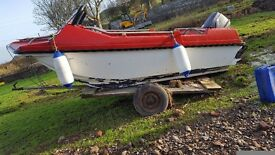 16 foot boat with 50hp nissan 2 stroke engine