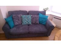 Second hand 2 seater grey sofa
