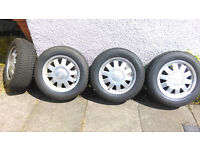 Almost new 195/65/15 tyres on Audi/VW with Alloy Wheels 195 65 15