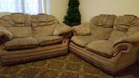 PAIR OF 2 SEATER SETTEES FREE TO COLLECTOR