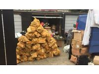 Large bags of fire wood.