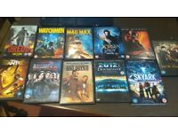 Collection of DVD's mainly sci fi rated 12 to 18