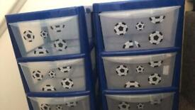 3 draw plastic storage unit