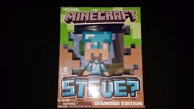 HUGE COLLECTION MINECRAFT toys, books and plush Fantastic set LOW PRICE!