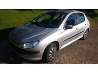 peugeot 206 low milage