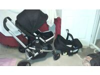 Mother care xpedior pushchair plus high chair and travel cot
