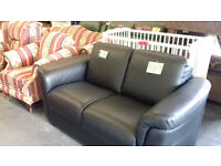 ITALIAN LEATHER... SETTEE.... Immaculate Condition...EXELLENT QUALITY... Can Deliver Locally..