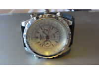 BREITLING MENS WATCH WHITE WITH RUBBER STRAP