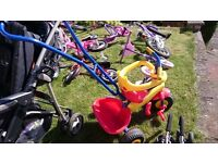 Toddler Trike Bike with Parent Handle
