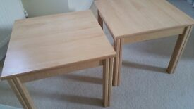 Pair of Light Wood Side Tables