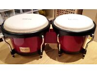 Tycoon Percussion Bongo Drums - Red & Black