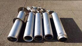 "5m 200mm / 8"" internal diameter stainless steel flue, brackets etc"