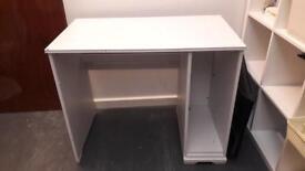 White computer desk for office/studio