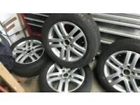 "VW AUDI SKODA SEAT 16"" ATLANTA ALLOY WHEELS WITH 4x 205/55/16 WINTER TYRES"