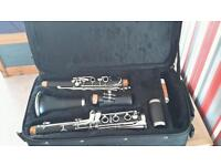 Clarinet with case, grease and cloth