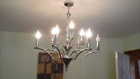 8 bulb chrome ceiling light