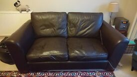 M&S 3 Person Leather Sofa