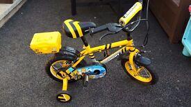 Kids bike yellow apollo tool box