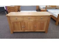 Charlton's Furniture Bretagne Solid Oak 3 Door 3 Drawer Sideboard RRP £1129 **CAN DELIVER**