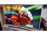 "SAMSUNG UE55JU6510 Smart 4k Ultra HD HDR 55"" Curved LED TV 2016 Model..Top Stylish White TV"