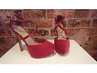 New Look Red High Heels - Size 6