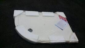 BRAND NEW PACKAGED 1200 X 800mm LEFT HAND QUADRANT ULTRA SLIM WHITE STONE SHOWER TRAY RRP £299.99