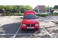 Red VW Caddy 1.9 SDI beacons, towbar, recovery vehicle