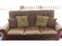 Button Back Sofa. Solid good frame