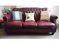 Sofa, red leather