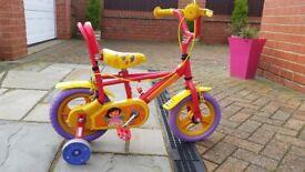 Kids Dora the explorer bike 3+