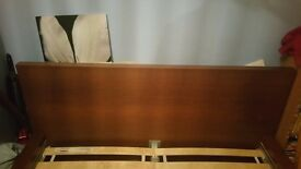 Bed frame,IKEA MALM Brown stained ash veneer/luröy Standard Double size bed USED in good condition