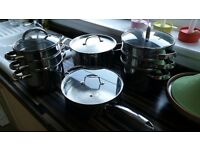Quality Saute pan, Stockpot and 2 Steamer sets