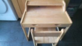 Galt small wooden child's desk
