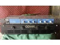 INTER M QD4480 AMPLIFIER & CLOUD 2 ZONE MIXER CX133