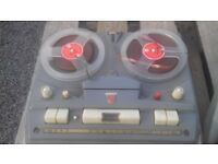 philips 1960s tape player and tapes