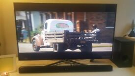 Samsung 48 inch Full HD 1080p 3D smart TV Soundbar and 3D Blu-ray DVD player