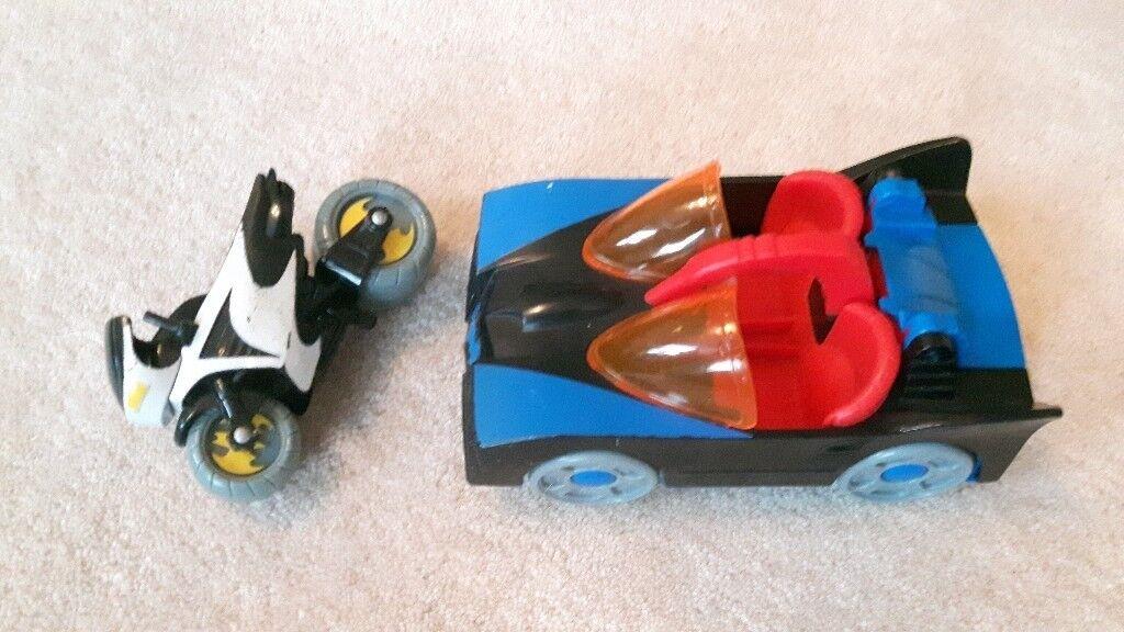 Batman car and bike toys