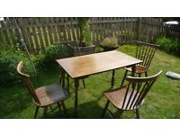**2 Antique Dining Tables Plus 4 Ercol Design Chairs** 30 For The Lot**