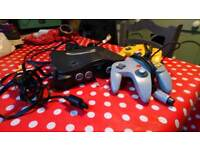 N64 Games Console And Two Controllers