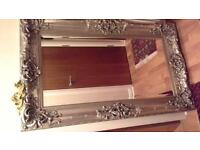 beautiful antique style mirror silver immaculate condition