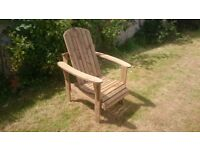 Garden chairs seat Adirondack chair bench garden summer furniture set Loughview Joinery
