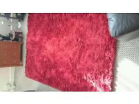 Red rug 80inch by 55inch