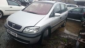 2001 VAUXHALL ZAFIRA, 1.8 PETROL, BREAKING FOR PARTS ONLY, POSTAGE AVAILABLE NATIONWIDE